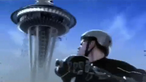 Space Needle about to fall