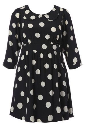 Beth Ditto for Evans Polka Dot Dress